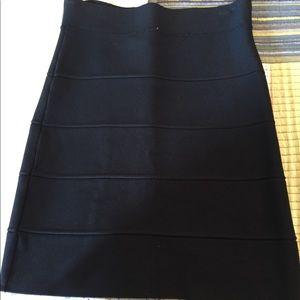 Black bcbg bandage skirt